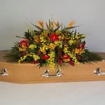 Tremendously Tropical Oak Floral Tribute