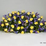 Yellow Rose, Blue Iris Floral Tribute