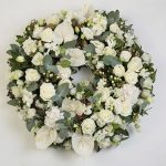 White & Green Floral Tribute