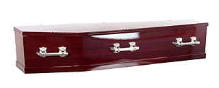 Basic Flat Lid Rosewood Coffin